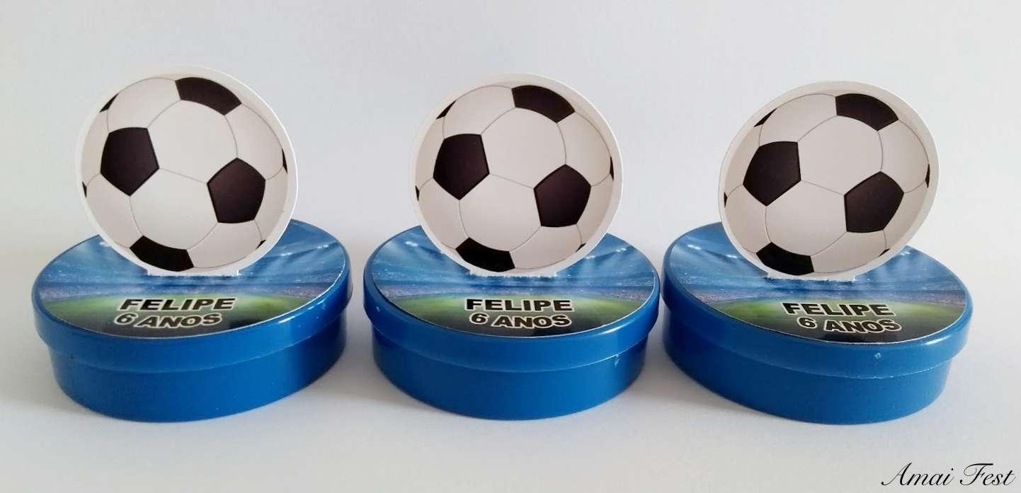 10 latinhas 3D - Bola de Futebol - Amai Fest c26bd9ba3baea
